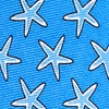 Blue Silk Starfish Tie
