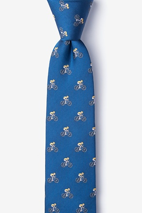 The Spin Cycle Blue Skinny Tie
