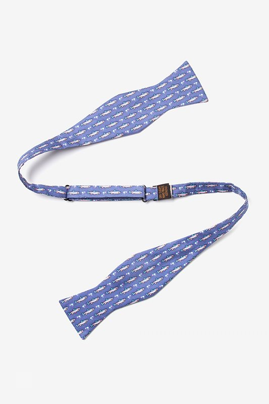 Trout & Fly Blue Self-Tie Bow Tie Photo (1)