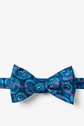 Blue Silk Tuberculosis Butterfly Bow Tie