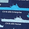 Blue Silk U.S. Aircraft Carriers Tie