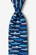 U.S. Aircraft Carriers Blue Tie Photo (0)