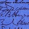 Blue Silk U.S. Presidential Signatures
