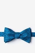 Blue Silk U.S. Presidential Signatures Bow Tie