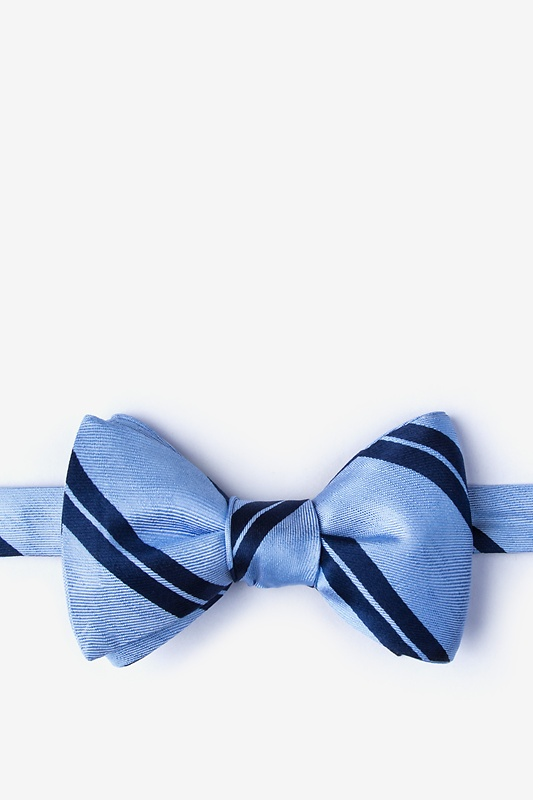 Wales Blue Self-Tie Bow Tie Photo (0)