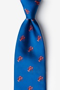Will Work for Lobster Blue Tie Photo (0)