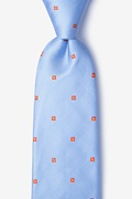 Blue Silk Wooley Extra Long Tie