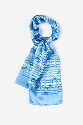 Blue Silk ZZZ'S, Dreams & Melatonin Scarf