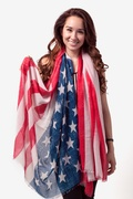 Rustic American Flag Blue Scarf by Scarves.com