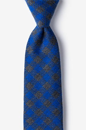 Blue Brussels Plaid Tie