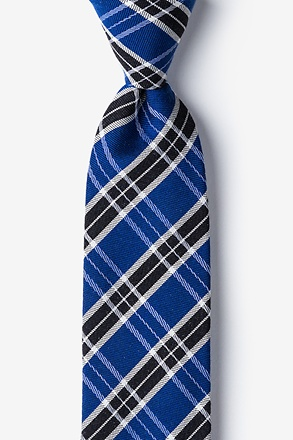 Blue Vienna Plaid Tie