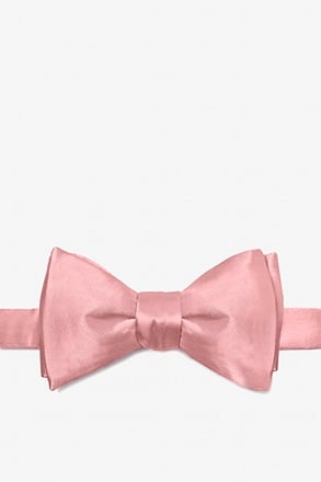 Bridal Rose Self-Tie Bow Tie