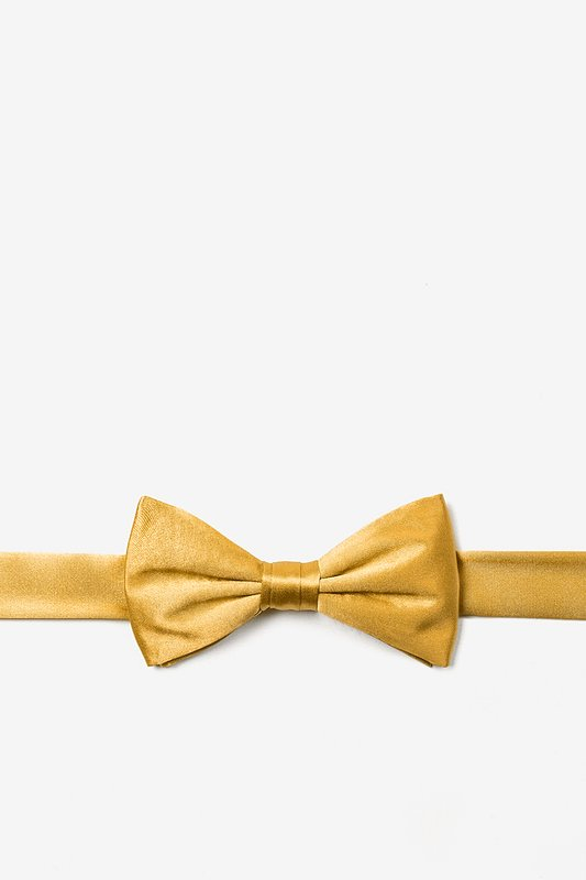 Bright Gold Bow Tie For Boys