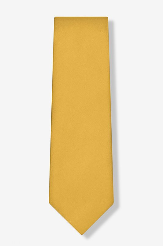 Bright Gold Extra Long Tie Photo (1)