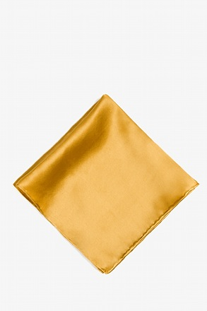 Bright Gold Pocket Square