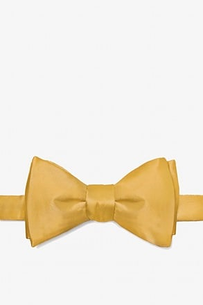 Bright Gold Self-Tie Bow Tie