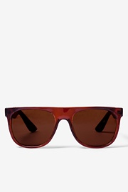 Brown Acetate Brown South Beach Flat Sunglasses