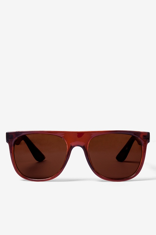 Brown South Beach Flat Sunglasses by Scarves.com