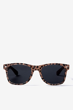 Leopard Animal Print Brown Sunglasses