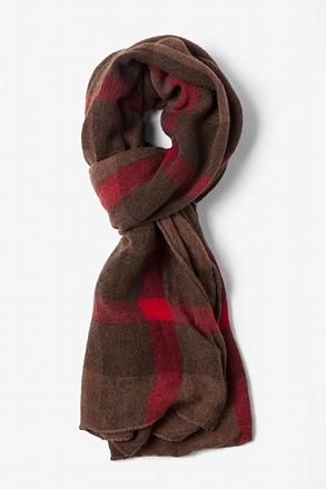 Brown Anchorage Tartan Scarf
