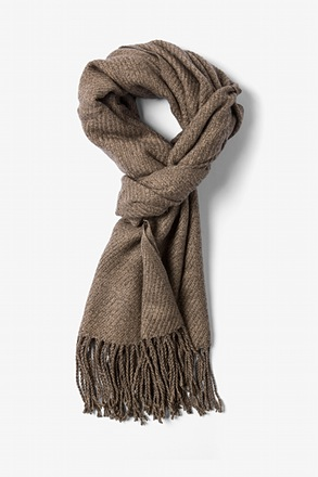 Brown Calgary Scarf