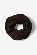 Brown Concord Knit Infinity Scarf by Scarves.com