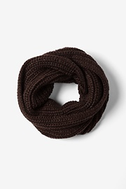 Brown Acrylic Brown Concord Knit Infinity Scarf