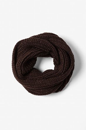 _Brown Concord Knit Infinity Scarf_