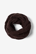 Brown Geneva Cable Knit Infinity Scarf by Scarves.com
