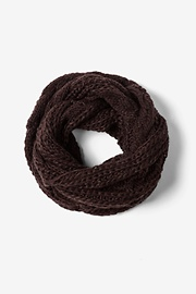Brown Acrylic Brown Geneva Cable Knit Infinity Scarf