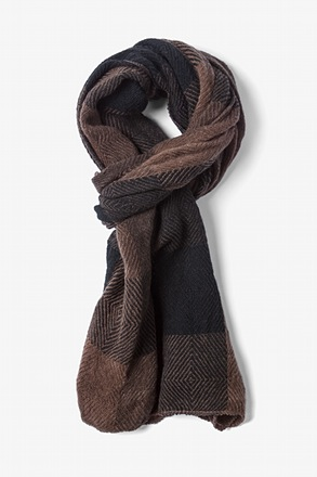 Brown Rochester Check Scarf