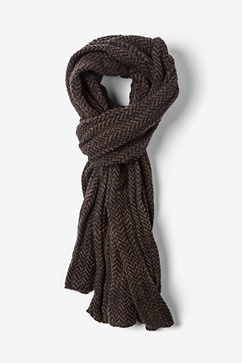 Brown Seattle Striped Scarf