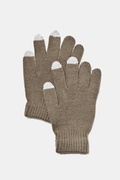 Texting Brown Gloves by Scarves.com