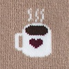 Brown Carded Cotton Cup of Coffee Women's Sock