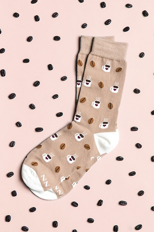 Cup of Coffee Brown Women's Sock Photo (1)