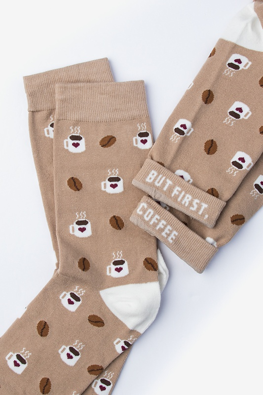 Cup of Coffee Brown Women's Sock Photo (2)