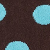 Brown Carded Cotton Pasadena Polka Dot Sock