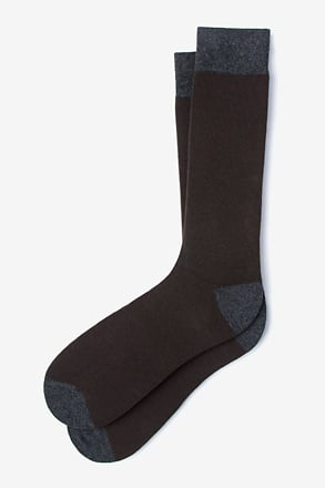 _Solid Choice Brown Sock_