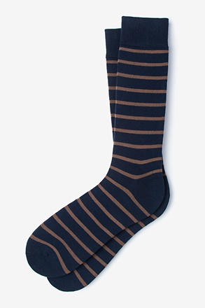 Virtuoso Stripe Brown Sock