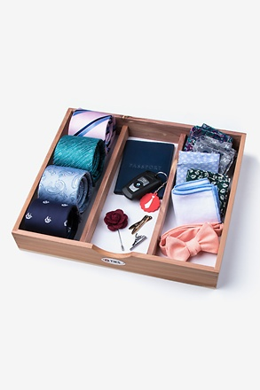 Cedar Tie & Accessory Storage Tray