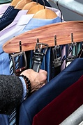 Hanging Cedar Belt & Tie Rack