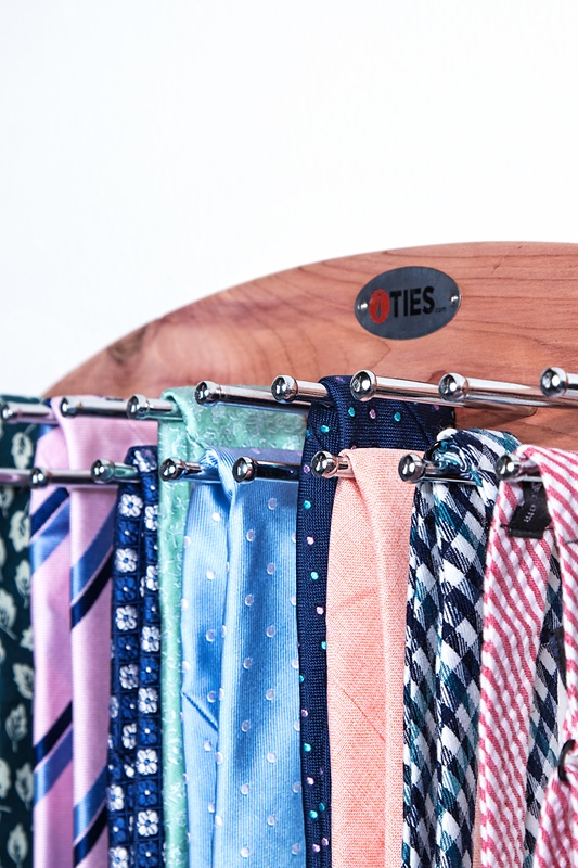 Mounted Cedar Tie Rack Photo (2)