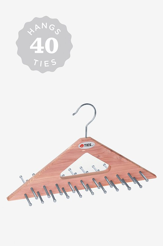 Triangle Cedar Tie Hanger Brown Tie Rack Photo (0)