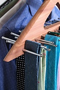 Triangle Cedar Tie Hanger Brown Tie Rack Photo (2)