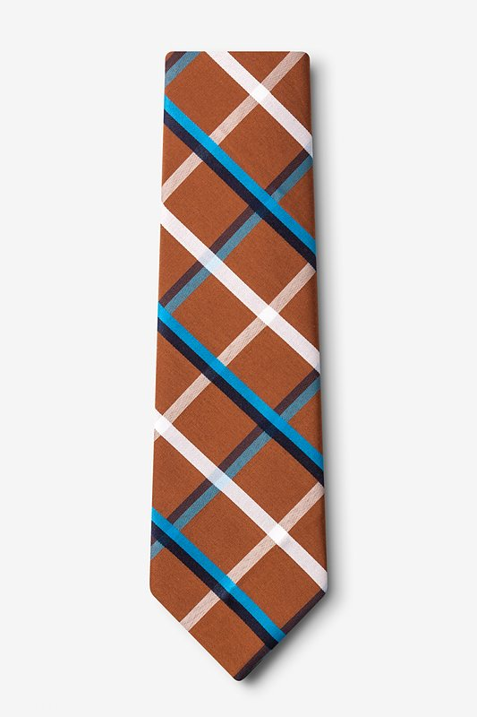 Bellingham Brown Extra Long Tie Photo (1)