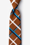 Brown Cotton Bellingham Extra Long Tie