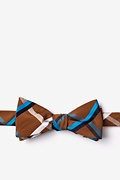 Brown Cotton Bellingham Skinny Bow Tie