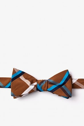 Bellingham Brown Skinny Bow Tie