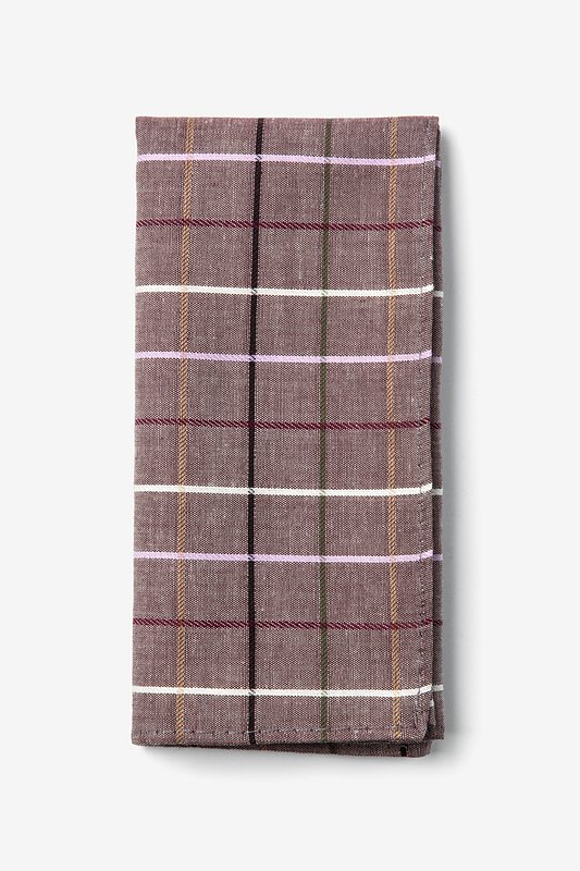 Brown Checkers Pocket Square