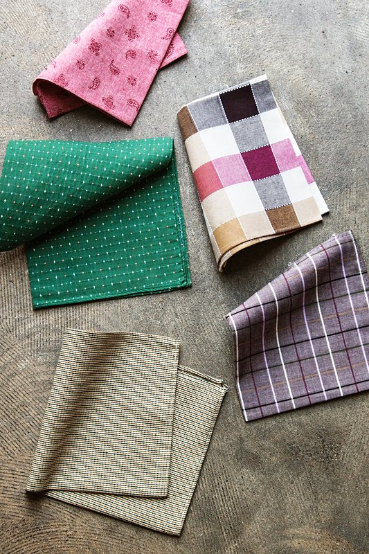 Brown Checkers Pocket Square Photo (1)